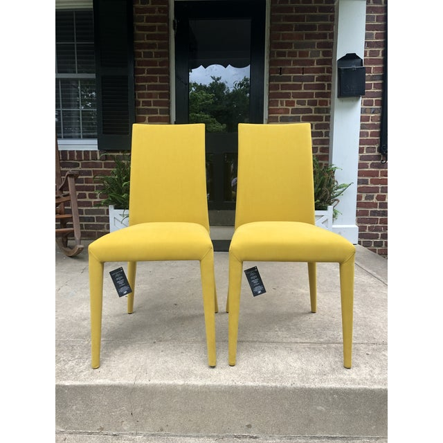 Wood Mustard Yellow Anais Chairs by Calligaris - a Pair For Sale - Image 7 of 7