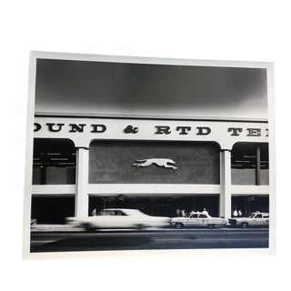 1960s Los Angeles Greyhound Bus Terminal Photograph For Sale