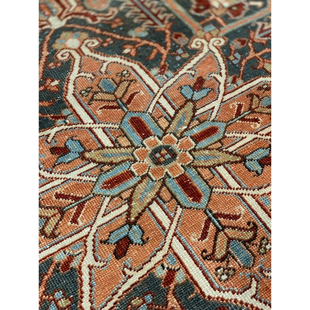 1920s 1920s Vintage Persian Heriz Area Rug - 9′5″ × 12′4″ For Sale - Image 5 of 13