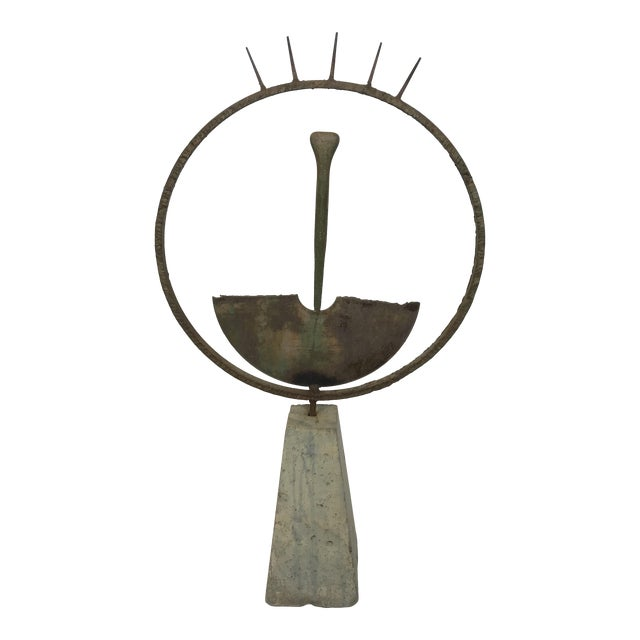 Contemporary Steven Derks Upcycled Abstract Iron & Concrete Sculpture For Sale