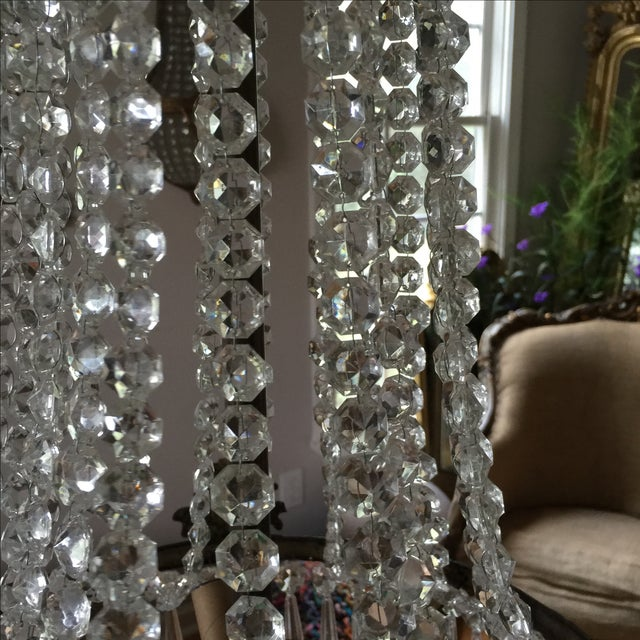 Acanthus Drop Crystal Chandelier For Sale In Atlanta - Image 6 of 9