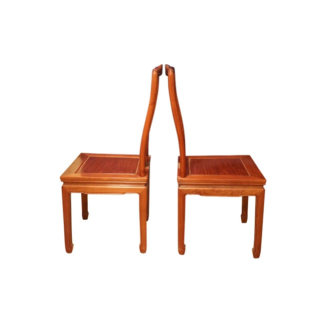 """Cotton 1980's Chinese Rosewood 'Ming' Style Dining Set, Table & Eight Chairs (44""""-80"""") For Sale - Image 7 of 9"""