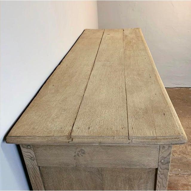 19th Century Rustic Regence Stripped Oak Buffet For Sale - Image 11 of 12