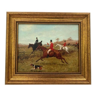 """English Fox Hunting Print """"The Chase"""" For Sale"""