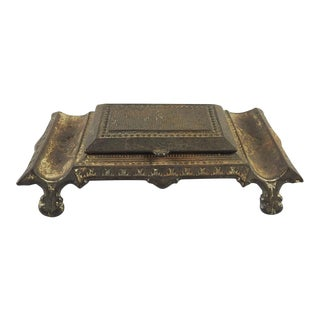 Antique Iron Match Holder Striker