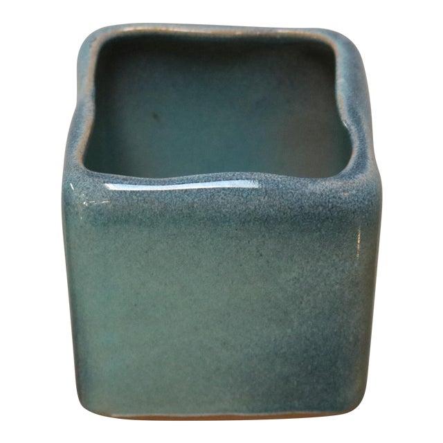 Little Square Ceramic Vase In Robins Egg Blue Chairish