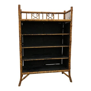 Late 19th Century Victorian Japanese Export Bamboo Etagere Bookcase For Sale