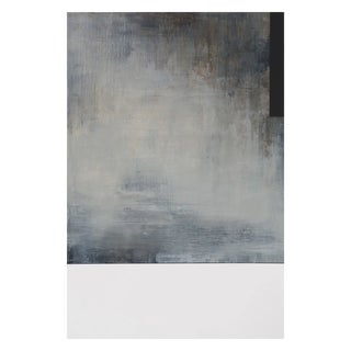 """Tamar Zinn """"At the Still Point 47"""" Abstract Oil Painting on Paper For Sale"""