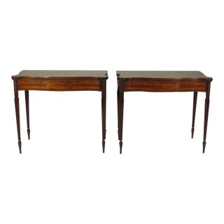 Late 19th Century Federal-Style Card Tables - a Pair For Sale