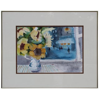 Charles Levier Watercolor Painting For Sale