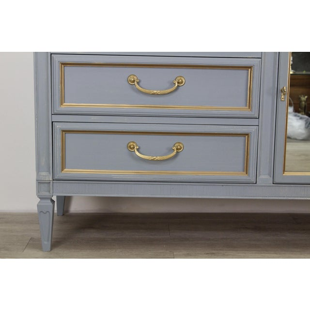 Mid Century Gray Neoclassical Style Dresser For Sale In Miami - Image 6 of 11
