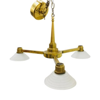 Modern French Art Deco Chandelier For Sale