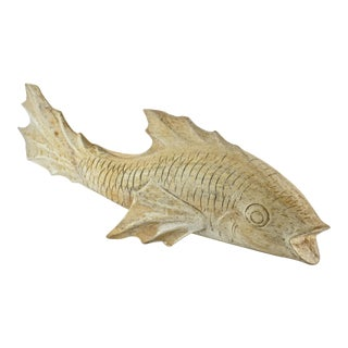 Carved Rustic Wood Fish