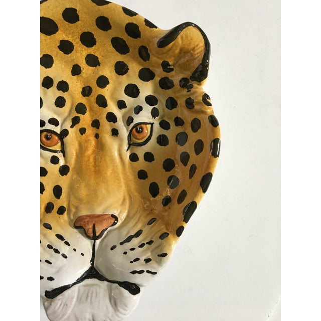 Mid 20th Century Italian Mid-Century Hollywood Regency Handcrafted Pottery Spotted Leopard Dish/Catchall For Sale - Image 5 of 13