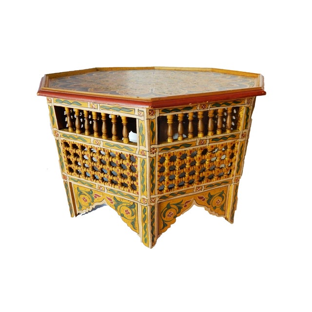 Moroccan 8 Sided Coffee Table - Image 3 of 10