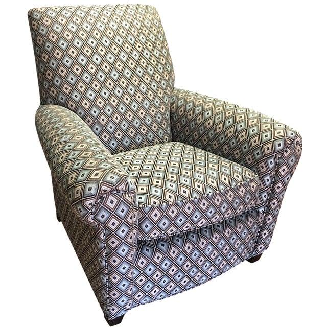 Ethan Allen Diamond Upholstered Sofa Chair - Image 1 of 7