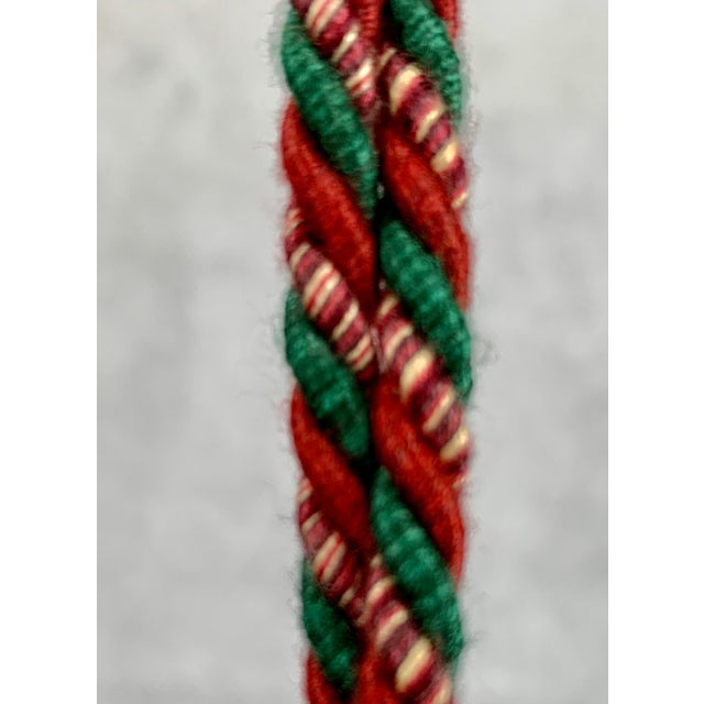 A large vintage Houlés of Paris passementerie key tassel. This never used tassel still is rich in color. Perfect to hang...