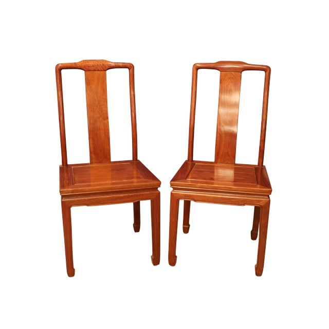 """1980's Chinese Rosewood 'Ming' Style Dining Set, Table & Eight Chairs (44""""-80"""") For Sale - Image 6 of 9"""