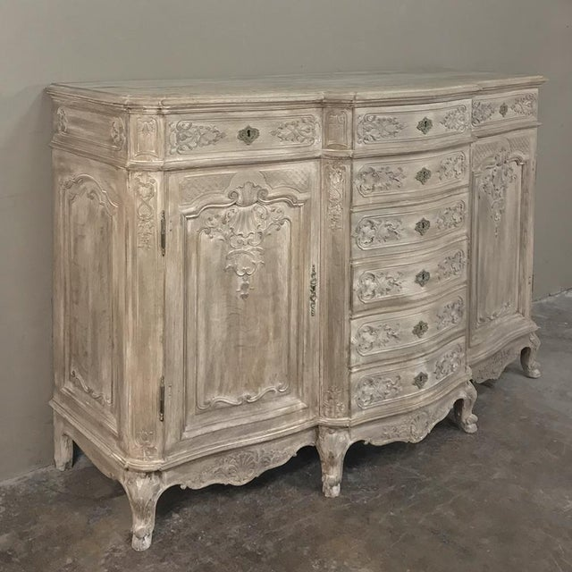 Belle Epoque 19th Century Liegeoise Regence Whitewashed Buffet For Sale - Image 3 of 5