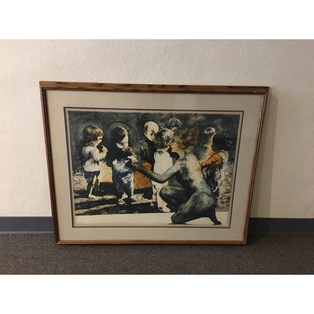 """""""The Gift"""" Ruth Weisberg Lithograph For Sale - Image 11 of 11"""