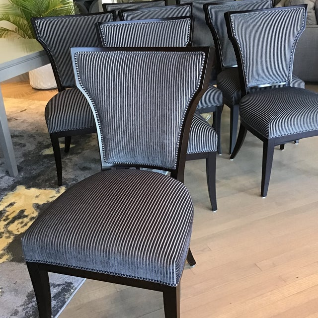 Art Deco Designmaster Furniture for Hickory Co. Dining Chairs - Set of 8 For Sale - Image 3 of 13