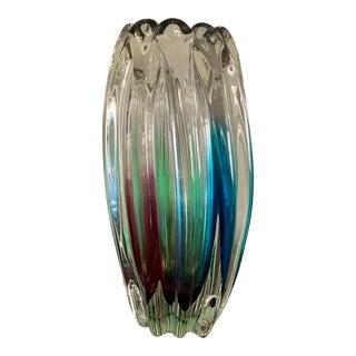 Mid 20th Century Italian Glass Vase For Sale