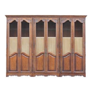 Vintage Wood Cabinet/Book Shelves For Sale