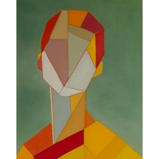 """Bill Tansey """"Male 4"""" Geometric Oil Painting on Canvas For Sale"""