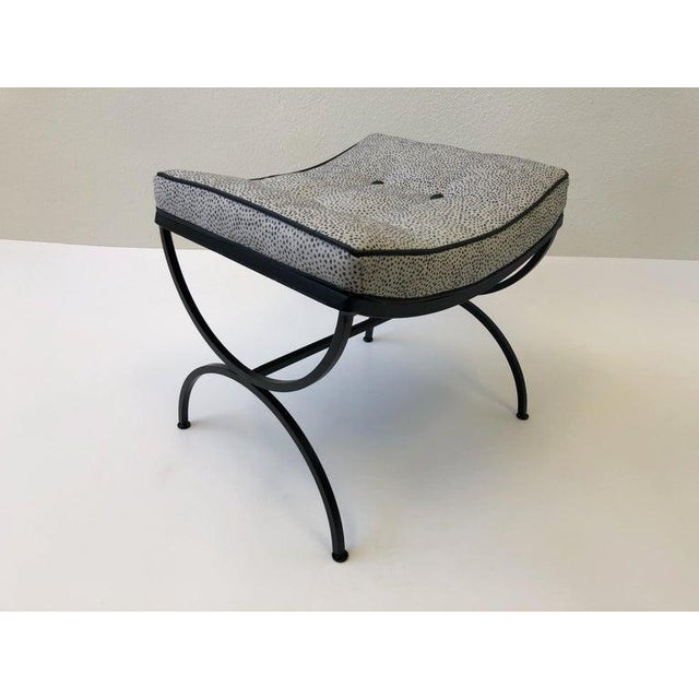 Contemporary Black Sculptura Ottomans by Woodard - a Pair For Sale - Image 3 of 11
