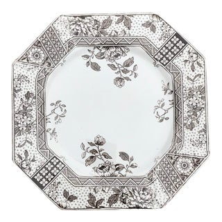 Antique Floral Plate For Sale