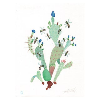"""Honey Cactus"" Original Watercolor"