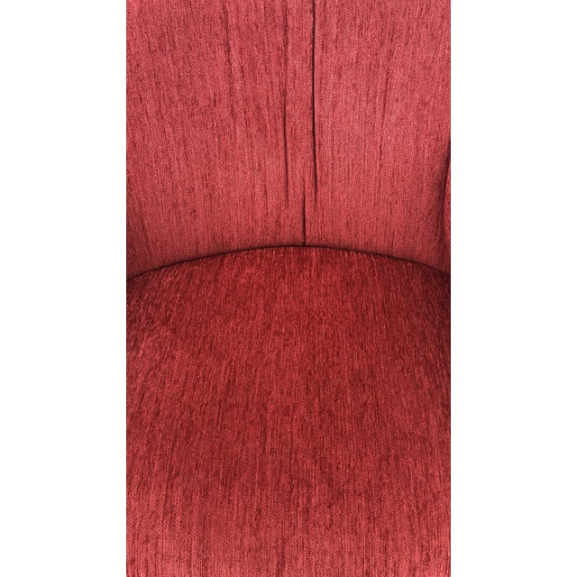 Mid-Century Vladimir Kagan Style Red Sculptural Chairs - a Pair For Sale In Dallas - Image 6 of 8