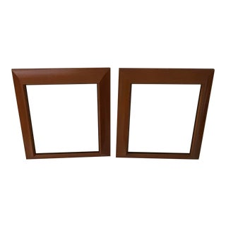 Vintage Wood Picture Frames With Glass - a Pair For Sale
