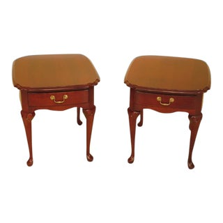 Pennsylvania House Cherry 1 Drawer End Tables - a Pair For Sale