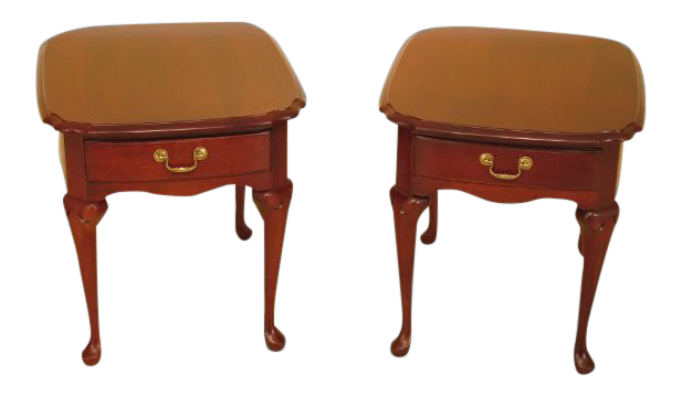 Perfect Pennsylvania House Cherry 1 Drawer End Tables   A Pair
