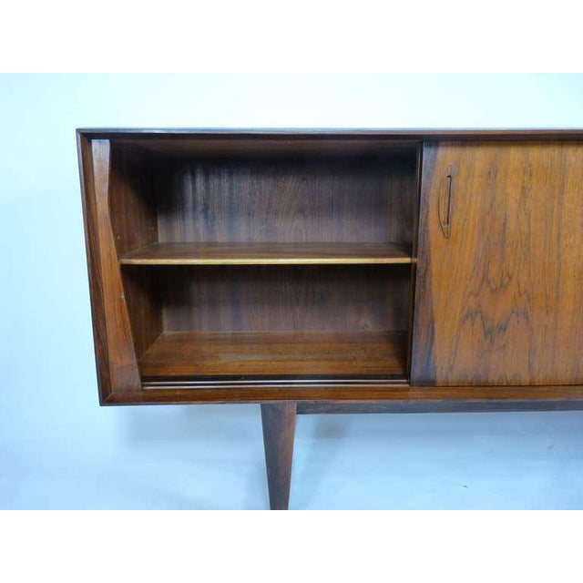 Early 20th Century Exceptional Danish Rosewood Credenza For Sale - Image 5 of 10