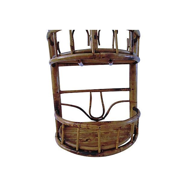 Vintage Bamboo & Rattan Two-Tier Hanging Shelf - Image 4 of 6