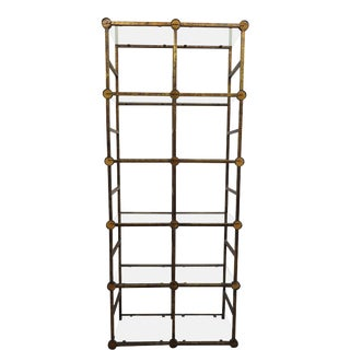 Mid-Century Italian Steel Etagere For Sale
