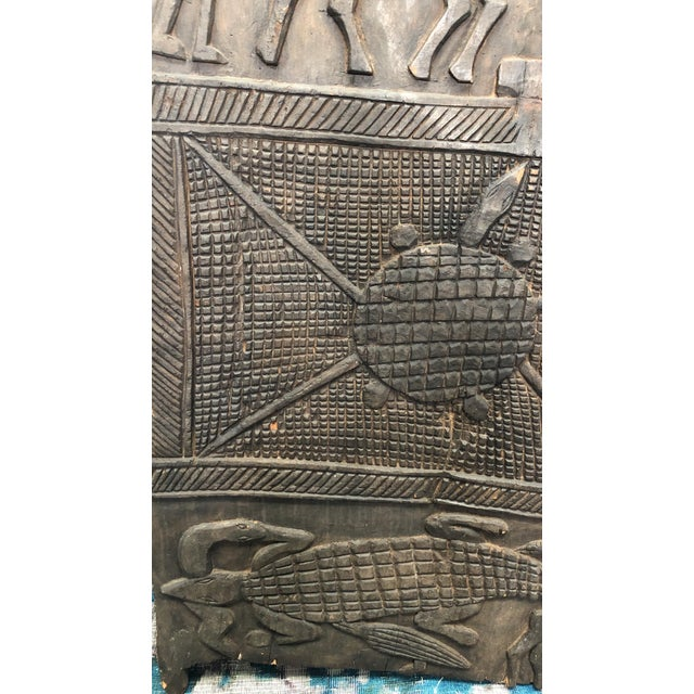 Antique African Carved Wood Panel For Sale - Image 4 of 5