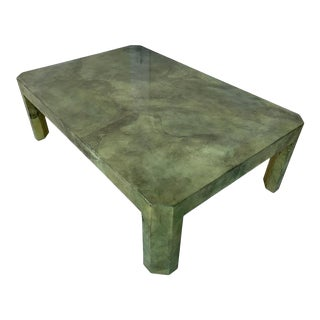 Large Goat Skin Coffee Table by Sally Sirkin Lewis For Sale