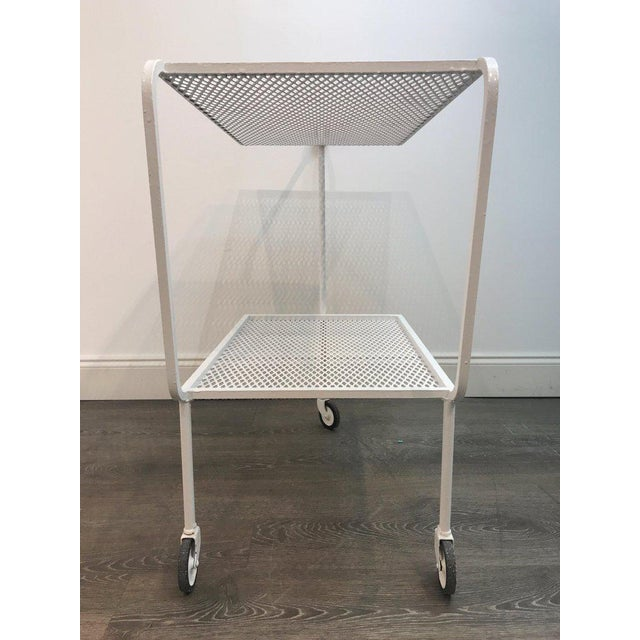 Modern Wrought Iron Bar Cart in the Attributed to Salterini For Sale - Image 9 of 10