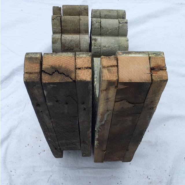 Weathered Wooden Corbels - A Pair For Sale In Providence - Image 6 of 6