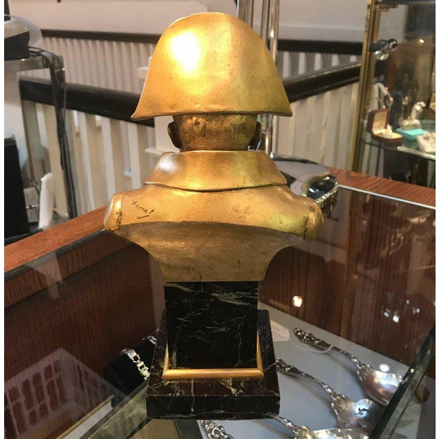 Metal French Empire Bronze Napoleon Bust For Sale - Image 7 of 10