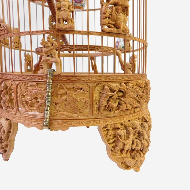 Bamboo Warfield Carving Birdcage - Image 4 of 10