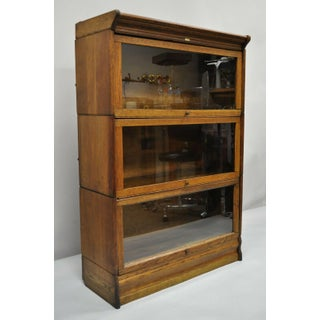 Antique Lundstrom Oak Bookcase Preview