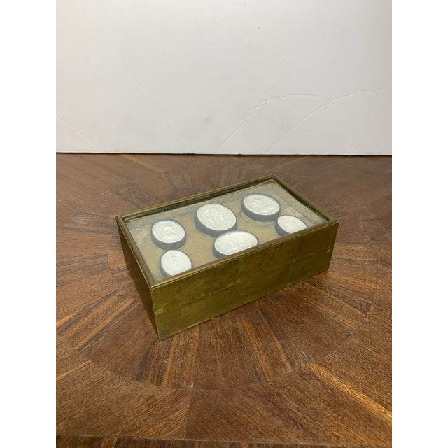 1810 Grand Tour Jewelry Box With Neoclassical Plaster Cameos For Sale In Los Angeles - Image 6 of 8