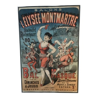 Large 19th Century French Cabaret Poster For Sale