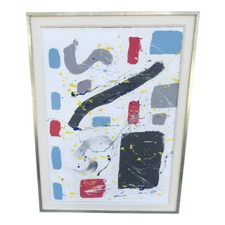 Contemporary Framed Abstract Painting For Sale