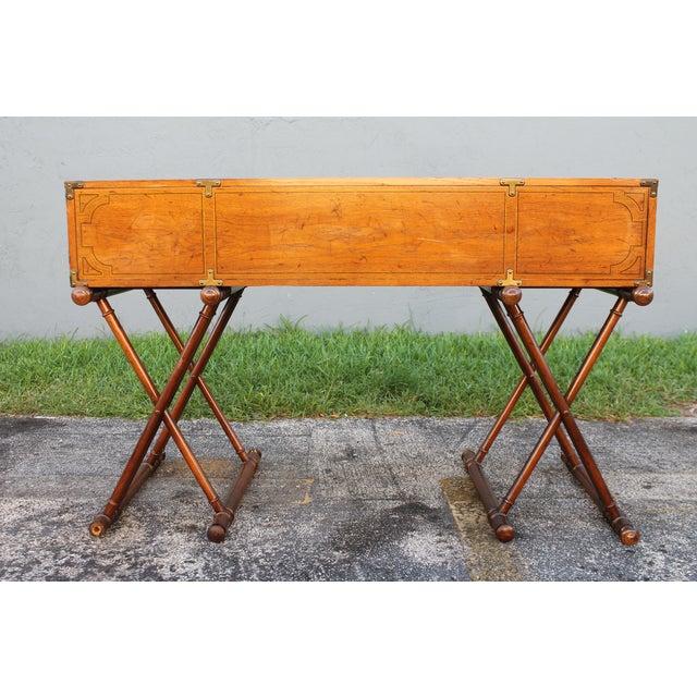 Vintage Campaign Rolltop Desk For Sale - Image 13 of 13