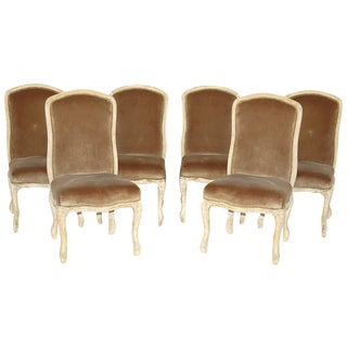 Dining Chairs 6 Side Chairs Rustic Modern Farm Velvet